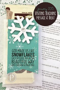 We woke up to a foot of snow and it is still snowing!!! Seems a fitting day to introduce our new LDS January 2015 Visiting Teaching Message...
