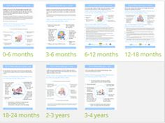 Tips for Talking Factsheets- contain the age specific developmental information from the site. They will give parents the information they need to check their child is developing. Available in multiple languages. http://www.talkingpoint.org.uk/directory/free-resources-parents