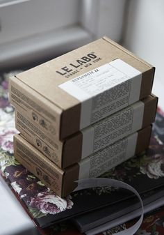 Le Labo - Like the use of all sides of the box to sell the story. Craft and off white label feels premium too