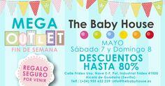 ¡Llega el Mega Outlet del bebé! Los días 7 y 8 de mayo tendremos todos los productos con hasta un 80% DE DESCUENTO. ¡Ven a vernos a The Baby House!