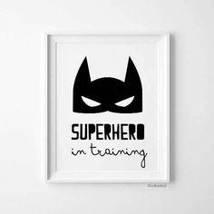 superhero print SALE superhero poster Superhero in