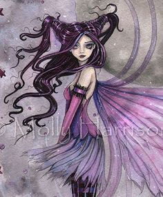 Purple Passion Fairy - 9 x 12 Fine Art Giclee Print - Fantasy Art by Molly Harrison Amy Brown Fairies, Fairy Halloween Costumes, Fairy Coloring, Colouring, Unicorns And Mermaids, Fairy Pictures, Gothic Fairy, Fairy Figurines, Love Fairy