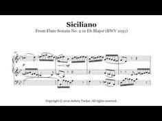 Organ: Siciliano From Flute Sonata No 2 in Eb Major (BWV 1031) - J.S. Bach - YouTube Flute, 2 In, Sheet Music, Play, Youtube, Flutes, Music Score, Music Charts, Tin Whistle