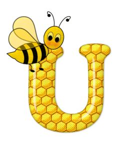 Alphabet letters bee on honeycomb. Bee Pictures, Scrapbook Letters, Cartoon Clip, Spelling Bee, Cute Bee, Alphabet And Numbers, Alphabet Letters, Bee Happy, Mellow Yellow