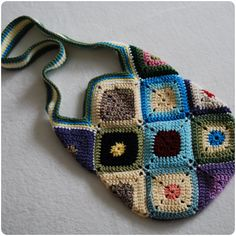 Colorful Crocheted Granny Square Hobo Bag  100 by KindaCraftyMama, $28.00