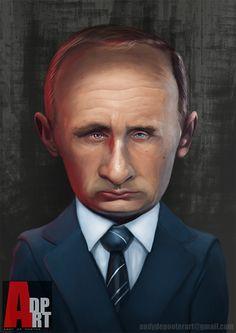 President Vladimir Putin Caricature #putinmissing #russia #vladimirputin #poetin #digitalart #portrait #caricature