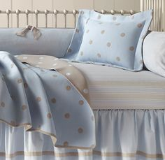 cute baby boy crib bedding light brown is also cute with baby blue!!