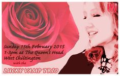 Please join us for lunch after Valentine's Day :) @queenshead_info FEB 15th FREE ENTRY #luckyvamp #jazz #westsussex