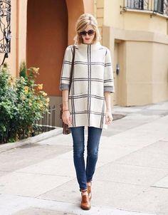 Paned Sweater Tunic