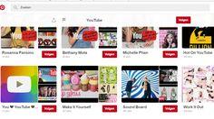 Youtube maakt verschillende boards aan waarop je filmpjes kunt bekijken per categorie bv : Work-outs, Vloggers, Eten.  https://www.pinterest.com/YouTube/?eq=youtube&etslf=3636
