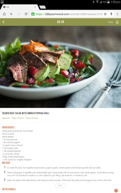 Gluten Free Recipes, Diet Recipes, Healthy Recipes, 28 By Sam Wood, Steak Dinners, Michelle Bridges, Clean Eating, Healthy Eating, Interesting Recipes