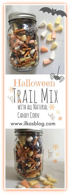 A fun Halloween Trail Mix made with all natural and no artificial colors candy…