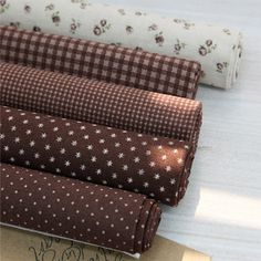 Jenny Brown Quilt Fabric Fat Quarter Bundle 5 FQ by JamiesQuilting, $13.49