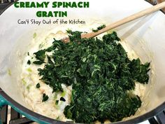 Creamy Spinach Gratin – Can't Stay Out of the Kitchen Spinach Gratin, Spinach Casserole, Vegetable Casserole, Spinach Rolls, Cooking With Olive Oil, Creamy Spinach, Easy Casserole Recipes, Glass Baking Dish