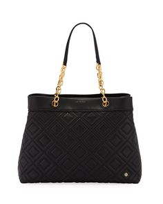 51c66197eba V3LKE Tory Burch Fleming Quilted Leather Tote Bag Quilted Leather, Fashion  Handbags, Neiman Marcus