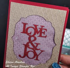 stampin up Love and Joy stamp set www.sharonarmstrong.stampinup.net  Would you buy this card?