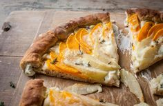 The creamy Gorgonzola hidden in the crust of this bread compliments the butternut squash and the pear beautifully.