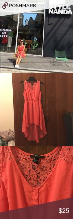 ❤️Clearance❤️Forever 21 high low dress! Forever 21 high low dress! Size small. Goood condition. Very attractive! First pic was when I wore it in Korea! Forever 21 Dresses High Low
