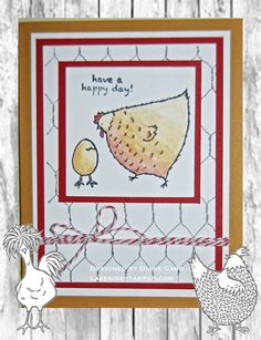 Hey, Chick: Birthday Card | LakesideStamper.com