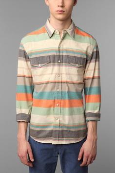 Salt Valley Nada Stripe Western Shirt  #UrbanOutfitters