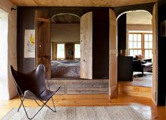 """a bed in an elevated closet and a slide show entitled """"houses made of sticks and stones."""" well done NYtimes!"""
