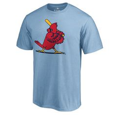 Men's St. Louis Cardinals Fanatics Branded Light Blue Cooperstown Collection Forbes T-Shirt