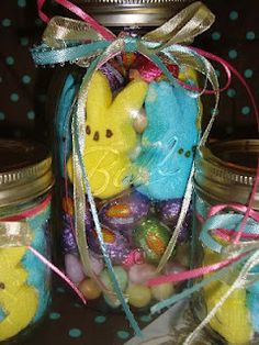 Diy frozen easter baskets disney pinterest frozen easter easter basket in a jar must make and mail to my college boy negle Image collections