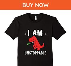 Mens I Am Unstoppable Funny T-shirt Large Black - Funny shirts (*Amazon Partner-Link)