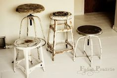 Cute industrial stools.