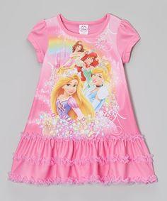 Pink Princess Ruffle Nightgown - Toddler by Disney #zulily #zulilyfinds