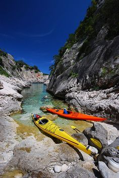 Kayaking around Sardinia, Italy
