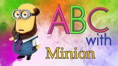ABC song nursery rhymeswith Minions - abcdefghijklmnopqrstuvwxyz Alphabet Song For Kids, Alphabet Songs, Abc Songs, Kids Songs, Phonics Song, Minions, Toddlers, Nursery, Learning