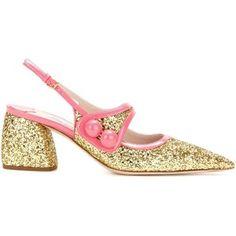 Glitter-embellished sandals Miu Miu