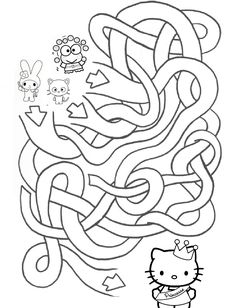 HELLO KITTY COLORING: HELLO KITTY MAZE ACTIVITY SHEET