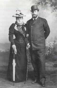 Вел.кн. Алексей Александрович(брат имп. АлександраIII) с графиней Зинаидой Дмитриевной  Богарне