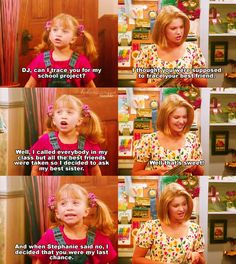 Haha sisterly love on Full House!