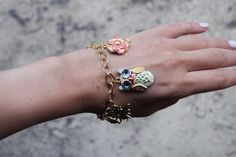 Colorful Enamel Charm Bracelet   AllFreeJewelryMaking.com