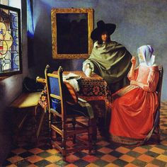 The Wine Glass is a 1660 painting by Johannes Vermeer.