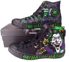 Converse Batman THE JOKER DC COMICS Chuck Taylor All Star Sneaker BLACK 141261C #Converse #FashionSneakers