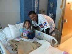 Cubs Shortstop Starlin Castro visited children in a Mesa hospital on Thursday
