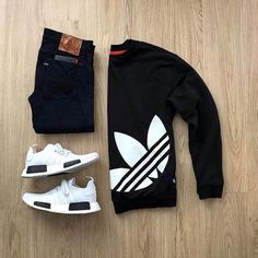 5 Miraculous Tips: Urban Fashion Trends Heels urban fashion boys internet.Urban Fashion Kids Little Girls urban fashion winter fall. Urban Dresses, Urban Outfits, Casual Outfits, Smart Casual Wear, Casual Wear For Men, Herren Style, Look Man, Urban Fashion Trends, Adidas Outfit