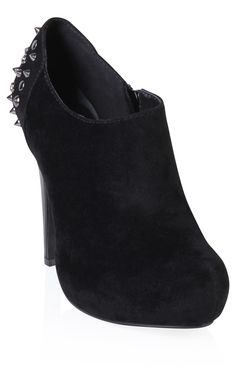 brushed velvet #bootie with #spikes and #studs  $42.50 LOVELOVELOVE