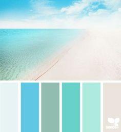 caribbean color palette via design seeds Beach Color Palettes, Beach Color Schemes, Colour Pallette, Colour Schemes, Color Palate, Paint Schemes, Beach House Colors, Beachy Colors, Beach House Decor
