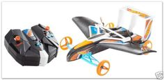 Remote-Control-Flying-Car-Hot-Wheels-Blue-Orange-Toy-Kids-Mattel-RC-R-C-Hot-Toys