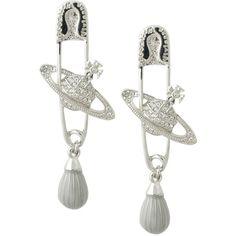 Rhinestone earrings by Vivienne Westwood