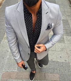 Men's Pocket Square Inspiration 2 I recently Mens Fashion Blazer, Mens Fashion Blog, Suit Fashion, Style Fashion, Fashion Guide, Sharp Dressed Man, Well Dressed Men, Stylish Men, Men Casual