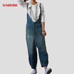 8f9ed6105975 Autumn Girls Denim Overalls for Women Rompers and Jumpsuits 2017 New Casual  Suspenders High Waist Jeans Women Rompers Winter -in Jumpsuits from Women s  ...