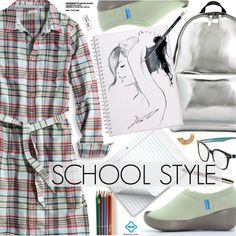 School Style by regettacanoe on Polyvore featuring polyvore, fashion, style, L.L.Bean, 3.1 Phillip Lim, Kate Spade, Paper Mate, GE, clothing and polyvoreeditorial