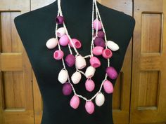 Silk Cocoon Crochet Necklace -. $40.00, via Etsy....but why???!!!