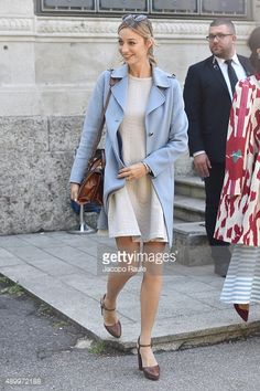 Beatrice Borromeo arrives at the Giamba show during the Milan Fashion Week Spring/Summer 2016 on September 25, 2015 in Milan, Italy.